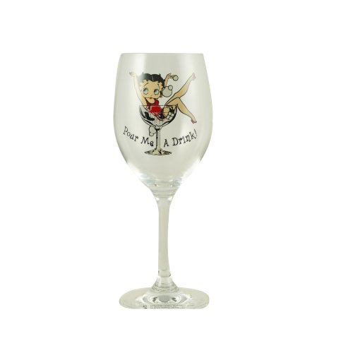Betty Boop Wine Glass - Pour Me A Drink