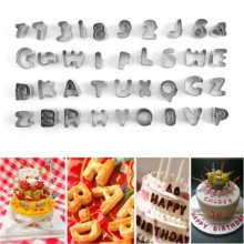 37pc Alphabet Icing Cutter Set | Letter & Number Cake Cutters Kit