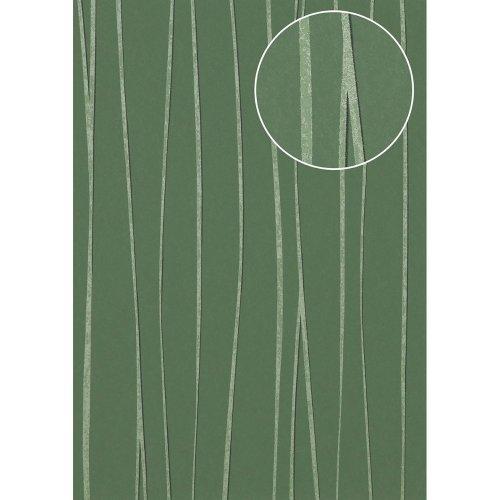 Atlas COL-570-1 Stripes wallpaper shimmering green 5.33 sqm