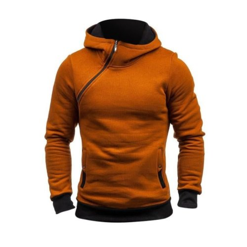 2018 Autumn Winter Hoodies Men\'s Cotton Flecce Hoodie Sweatshirts Male Tracksuit Pullover Thicken Warm Zipper Hooded Men Hoody