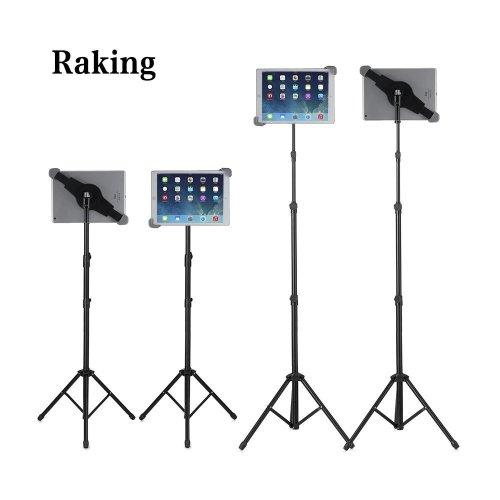 Raking Floor iPad and Tablet Tripod Stand with Carrying Bag, Adjustable Height 25 to 60 Inch Mount Holder for iPad /iPad Air /iPad Mini /Samsung...