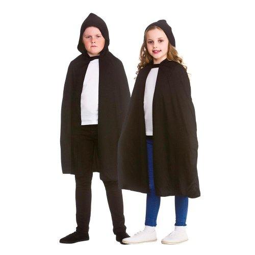 Kids Black Vampire Hooded Cape Cloak   Halloween