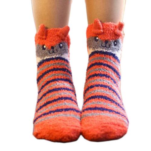 A Pair Soft Cute Sleeping Socks Slipper Socks Floor Socks Warm Socks-A10