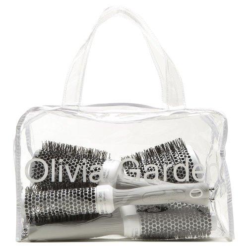Olivia Garden Ceramic + Ion™ Thermal Round Hair Brushes Bag 5pcs (20, 25, 35, 45, 55mm) - Anti-Static, Tourmaline-Ion & Nylon Bristles