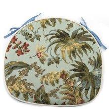 Creative Horseshoe Chair Cushion Polyester Fabrics Chair Pad (Blue Flower)