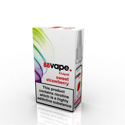 88 Vape E-Liquid Nicotine 16mg Sweet Strawberry 10ML
