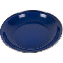 Summit 20cm Deep Enamel Plate With S/steel Rim Blue -  plate 20cm enamelware deep blue 090561 ss rim