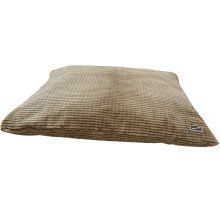 Small Brown Cord Dog Cushion - Hem And Boo Small Brown Easy To Clean Super Soft Corded Cushion
