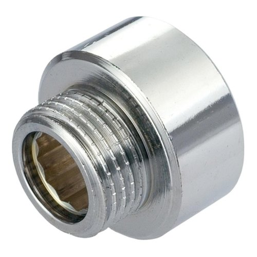 Round Female To Male Pipe Reduction Fitting - Chrome