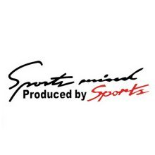 "3 pieces Sports Mind - Car Decal Stickers BLACK And RED (10.8""x2.8"")"