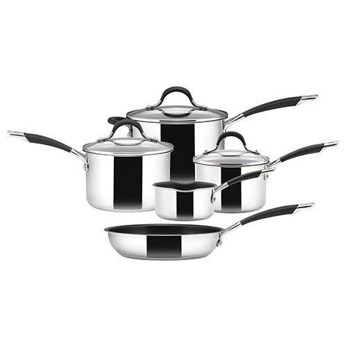 Circulon Momentum Saucepan and Frypan, Stainless Steel, Set of 5