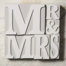 Mr & Mrs Decorative Plaque