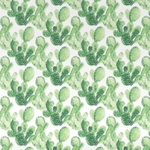 HD non-woven wallpaper watercolor aquarelle painted cacti Tropical jungle green