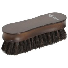 HySHINE Deluxe Wooden Face Brush with Horse Hair: Black Horse hair