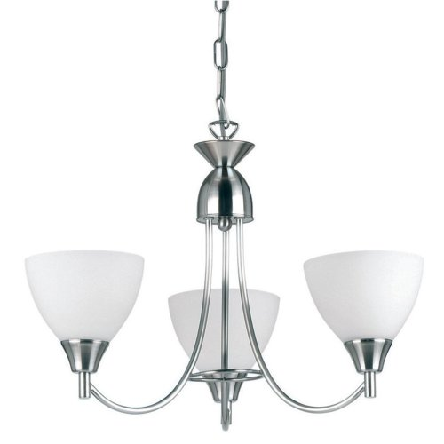3 Arm Ceiling Light With Opal Glass - Dual Mount