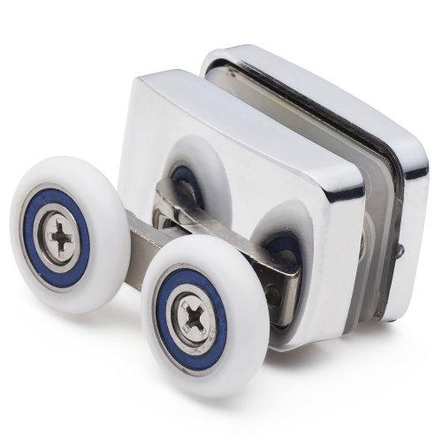 2 x Shower Enclosure Door Bottom Rollers/ Runners 23mm wheels dia F23