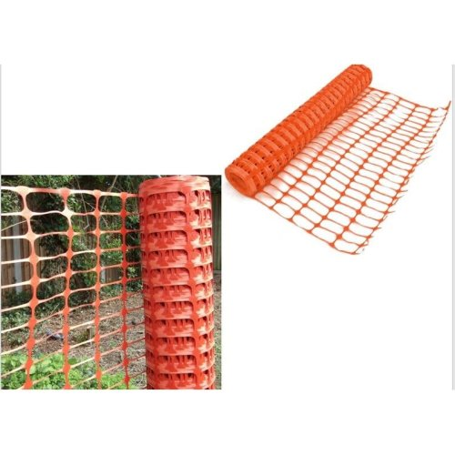 1 x 15m Orange Plastic Barrier Mesh Fencing Outdoor Event