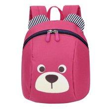 Anti-lost Kindergarten Backpack Cute Dog Shoulder Bag School Bag-Rose Red