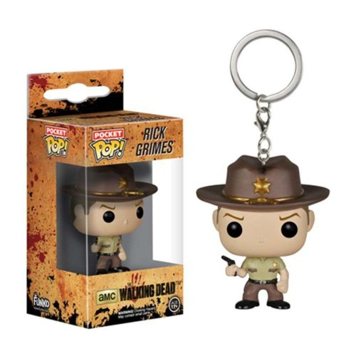 Funko Pop Boxed Vinyl Keyring | Walking Dead - Rick Grimes