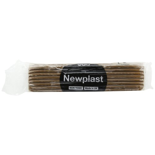 Newplast Plasticine, Brown Block Of Modelling Material (500g)