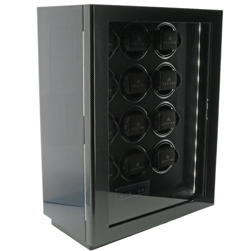 12 Watch Winder Carbon Fibre Finish the Classic Collection by Aevitas