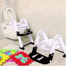 3 in 1 Toilet Trainer Glow in the Dark Black and White