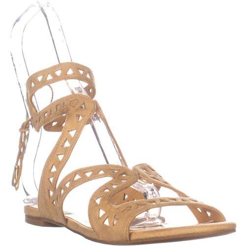 Daya by Zendaya Stella Flat Sandals, Buff Micro, 4.5 UK