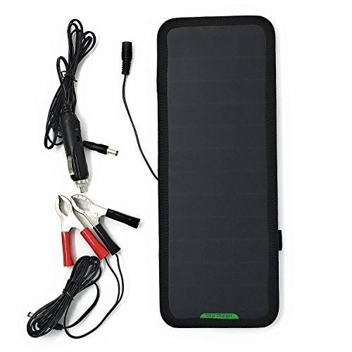 GIARIDE 18V 12V 7.5W Solar Car Battery Charger Sunpower Solar Panel Maintainer Backup for Car Boat RV Tractor Motorcycle and Auto Batteries