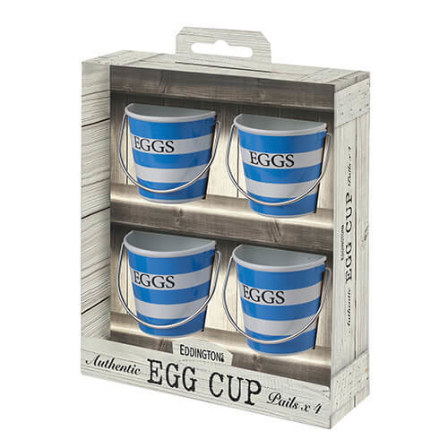 Eddingtons Blue and White Stripe Egg Cups Set of 4
