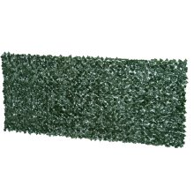 Outsunny Artificial Leaf Hedge Screen Privacy Fence Panel for Garden Outdoor Indoor Decor 3M x 1.5M Dark Green