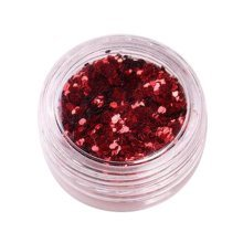 5 Boxes Makeup Glitter Sequins Shining Nail Art Sequins Face Glitter, Red