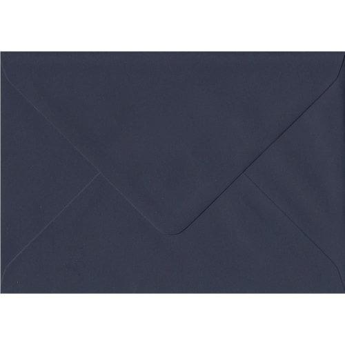 Navy Blue Gummed A5 Coloured Blue Envelopes. 100gsm GF Smith Colorplan Paper. 152mm x 216mm. Banker Style Envelope.