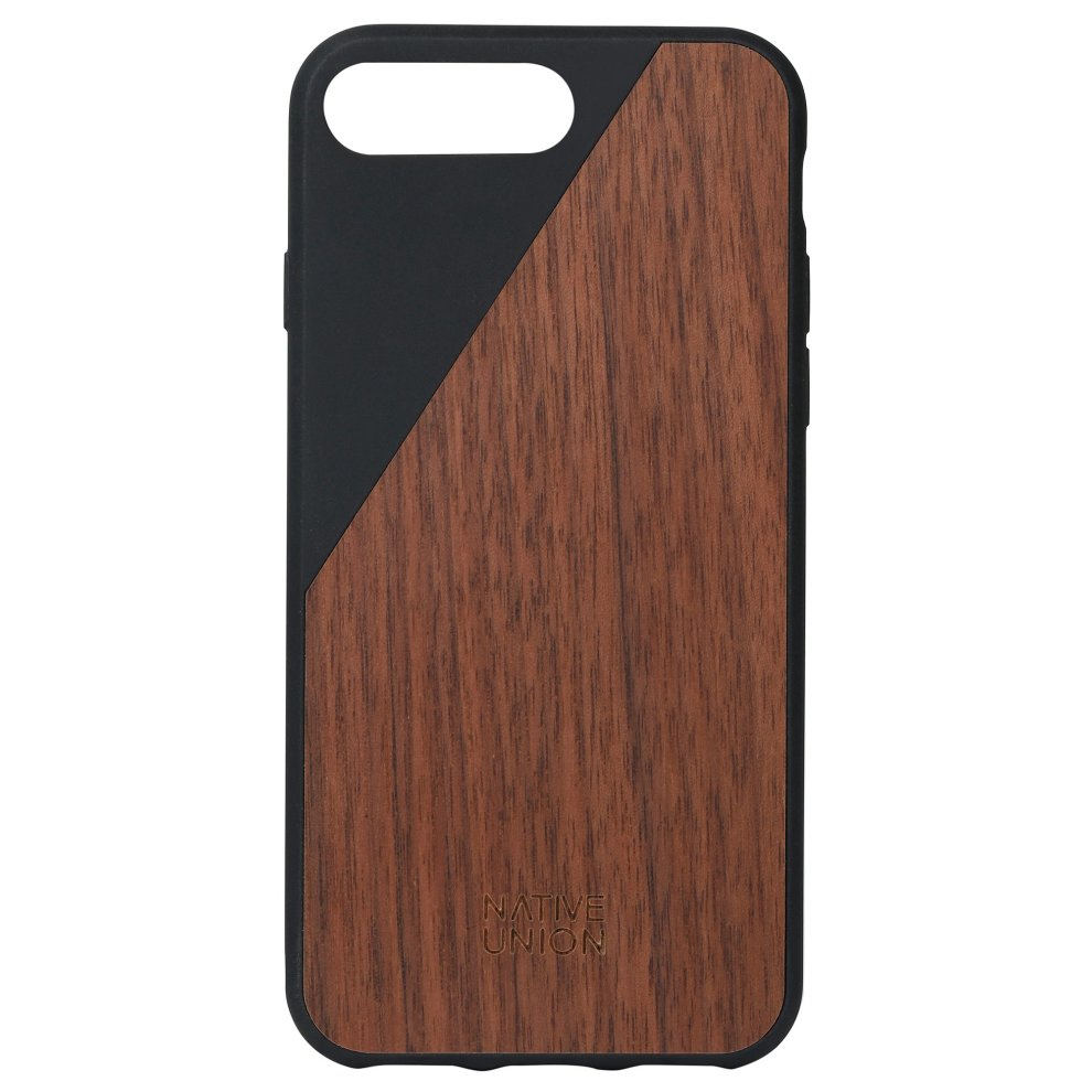 on sale df0f7 3a832 Native Union CLIC Wooden Case - Real Wood Cover for iPhone 7 Plus, iPhone 8  Plus (Black)