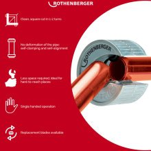 Rothenberger 15-22mm Pipe Cutter Pipeslice Copper Metal