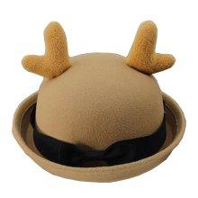 [Antlers Khaki] Lovely Baby Woolen Bowler Hat Bucket Hat for Children