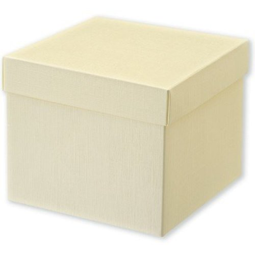 Ivory Silk Square Box With Lid (165x165x140mm)