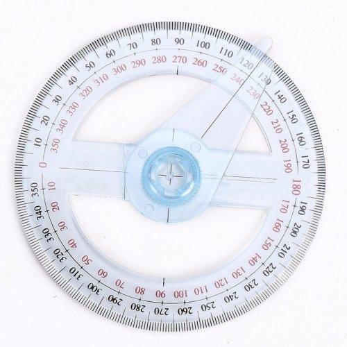 Plastic 360 Degree Protractor Ruler