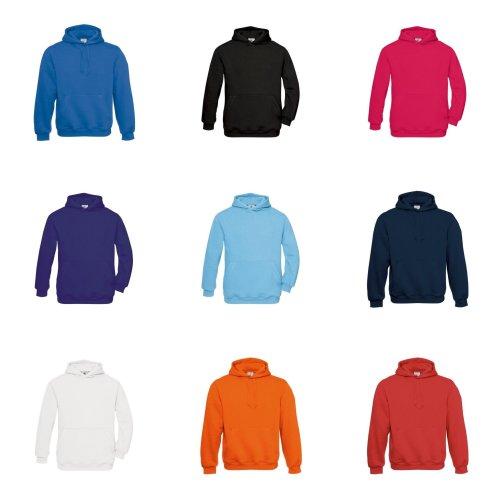 B&C Childrens/Kids Plain Hooded Sweatshirt/Hoodie