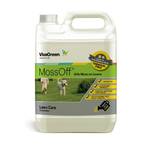 Moss Off 5L kills moss on Lawns
