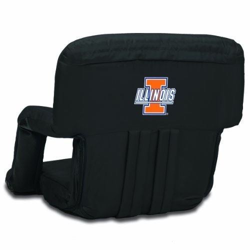 NCAA Illinois Fighting Illini Ventura Portable Reclining Seat, Black