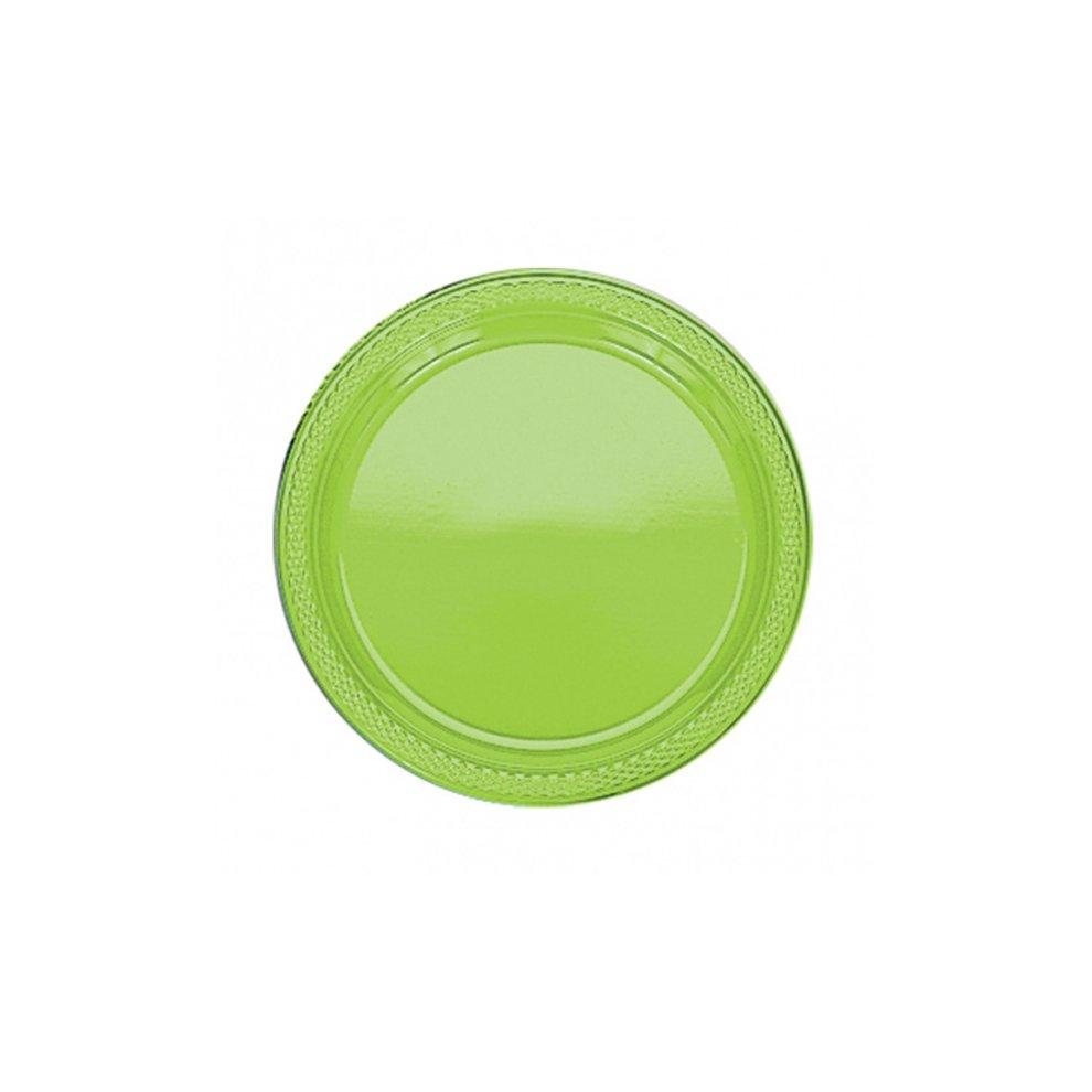 ... 9\  Green Plastic Plates x 20 - Party Tableware Birthday Wedding Colour Kiwi - party. \u003e  sc 1 st  OnBuy & 9\