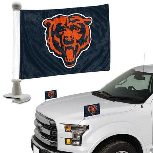 Team ProMark 84801 4 x 6 in. Chicago Bears Ambassador Car Flag, Set of 2