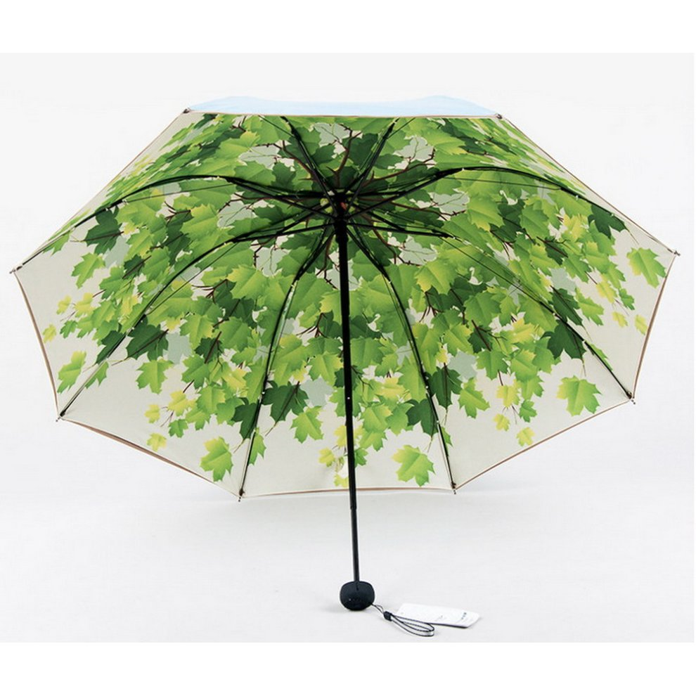 e1a4800cffba Portable Folding Umbrella Sun Protection Umbrella, Light Green