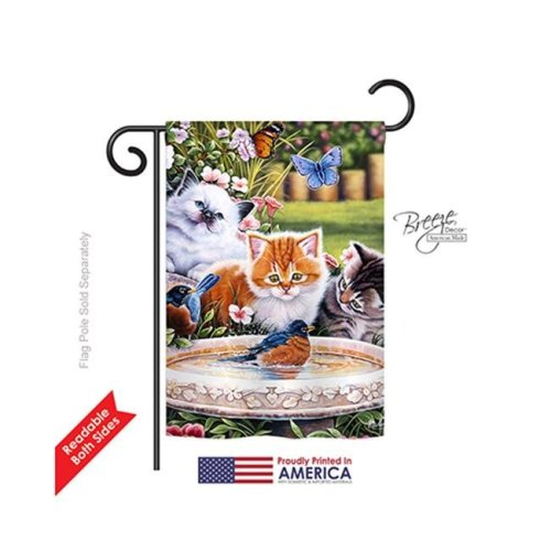 Breeze Decor 60071 Pets Splashing Up Some Fun 2-Sided Impression Garden Flag - 13 x 18.5 in.