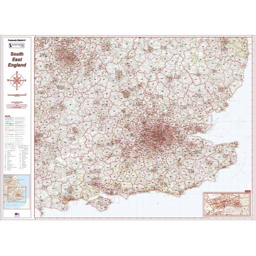 Postcode District 8 Map - South East England