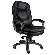 Kiev Black Leather Executive Chair by Eliza Tinsley BCL/U646/LBK