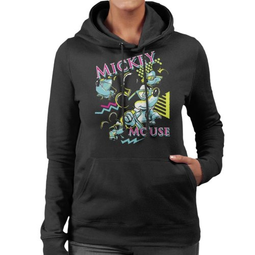 Disney Mickey Mouse Band 80s Vice Women's Hooded Sweatshirt