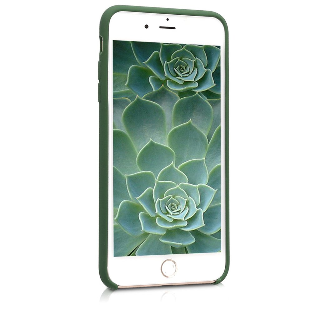 official photos f36b8 5ca70 kwmobile TPU Silicone Case for Apple iPhone 7 Plus / 8 Plus - Soft Flexible  Rubber Protective Cover - Dark Green