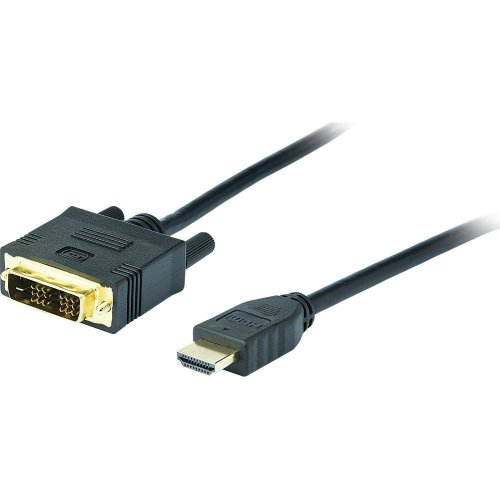 DVI to HDMI Cable 1.8 m Black connect PC to DVI port. on monitor