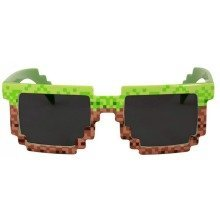 Minecraft Pixel Brick Green and Brown Sunglasses